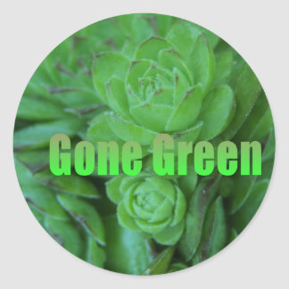 Gone Green 1 Stickers