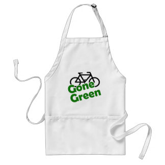 gone green bicycle adult apron