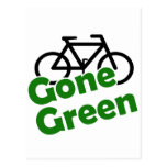 gone green bicycle postcard