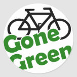 gone green bicycle sticker