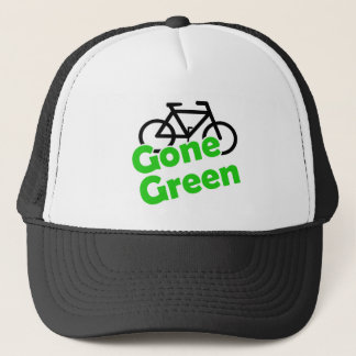 gone green bicycle trucker hat