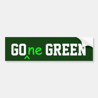 GOne GREEN bumper sticker Car Bumper Sticker