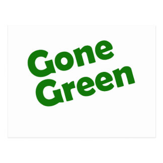gone green postcard