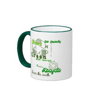 Gone Green Reduce Reuse Recycle Coffee Mug