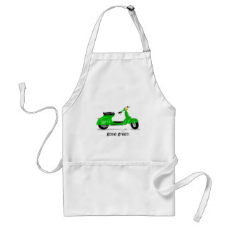 gone green scooter adult apron