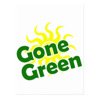 gone green solar postcard