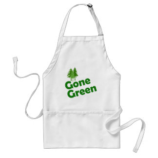 gone green trees adult apron