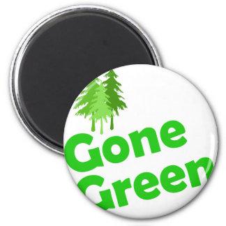 gone green trees magnet