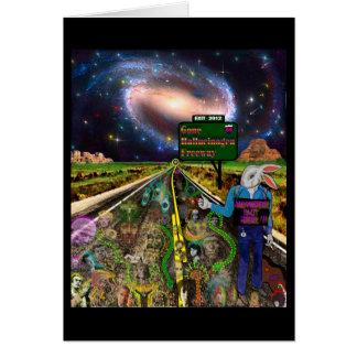 Gone Hallucinogen Freeway Greeting Card