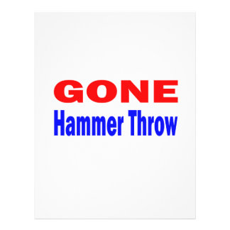 Gone Hammer Throw. Personalized Letterhead
