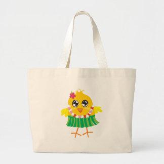 Gone Hawaii Hula Chick Large Tote Bag