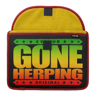 GONE HERPING - I Search for Amphibians & Reptiles Sleeve For MacBooks