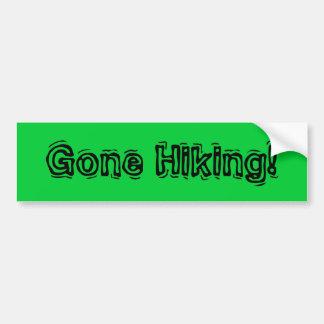 Gone Hiking! Car Bumper Sticker