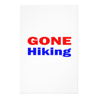 Gone Hiking Personalized Stationery