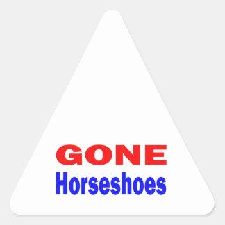 Gone Horseshoes. Triangle Sticker
