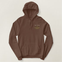 Gone Hunting Retirement Rocks! Embroidered Hoodie