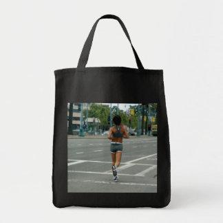 Gone Jogging Grocery Tote Bag
