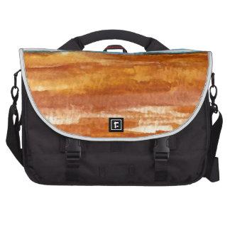 Gone Looking for Seashells Beach Surf Art Laptop Messenger Bag