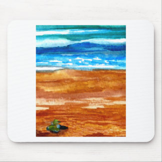 Gone Looking for Seashells Beach Surf Art Mouse Pads