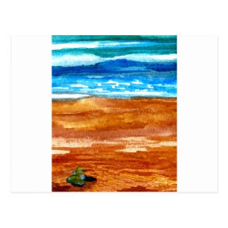 Gone Looking for Seashells Beach Surf Art Postcard