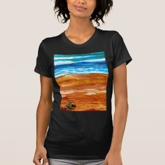 Gone Looking for Seashells Beach Surf Art Shirt