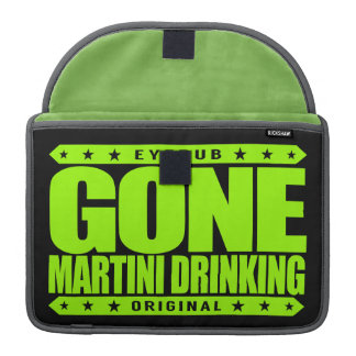 GONE MARTINI DRINKING - Gin And Vermouth Cocktails Sleeve For MacBooks