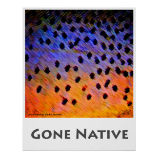 Gone Native Brush Strokes - Poster