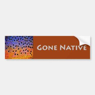 Gone Native - Bumper Sticker Car Bumper Sticker