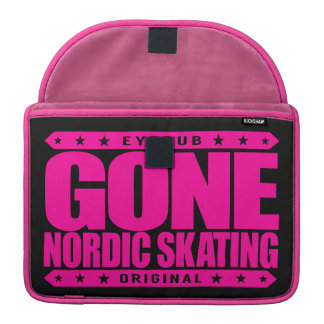 GONE NORDIC SKATING - I Love To Skate On Open Ice Sleeve For MacBook Pro