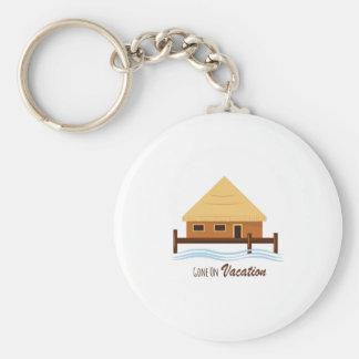 Gone on Vacation Basic Round Button Keychain