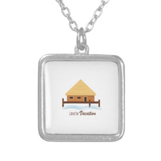 Gone on Vacation Square Pendant Necklace