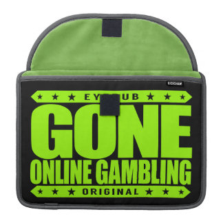 GONE ONLINE GAMBLING - High Stakes Sports Betting Sleeve For MacBooks