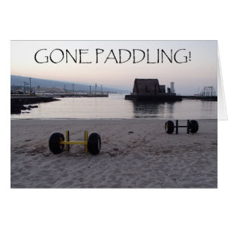 Gone Paddling! Card
