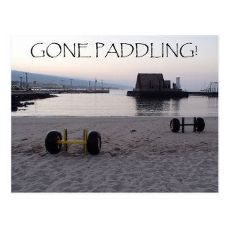 Gone Paddling! Postcard