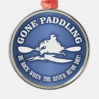 Gone Paddling (rd) Metal Ornament