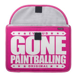 GONE PAINTBALLING - I Love Paintball Games & Wars Sleeve For MacBook Pro