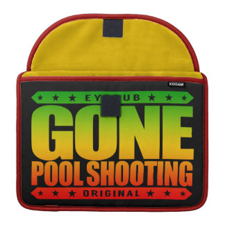 GONE POOL SHOOTING - Undefeated Billiards Player Sleeves For MacBook Pro