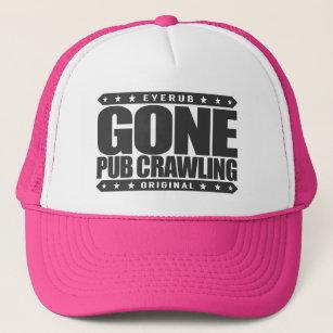 13671993 GONE PUB CRAWLING - I Love Alcohol And Bar-Hopping Trucker Hat