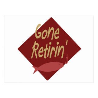 Gone Retirin' Postcard