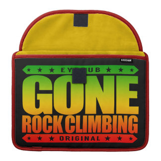 GONE ROCK CLIMBING - Skilled Fearless Solo Climber Sleeve For MacBooks