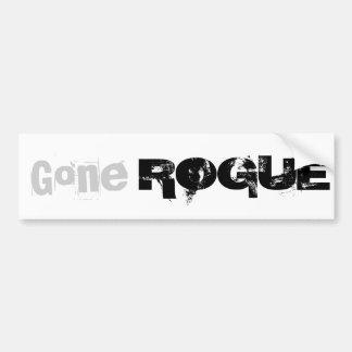 Gone ROGUE bumper sticker