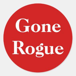 Gone Rogue Round Sticker