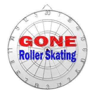 Gone Roller Skating. Dartboard With Darts