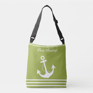 Gone Sailing Nautical Design Crossbody Bag