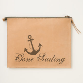 Gone Sailing Nautical Design Travel Pouch