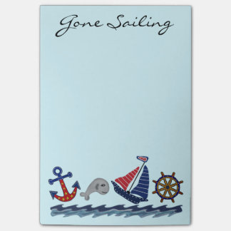 Gone Sailing Post it Notes