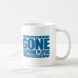 GONE SAXOPHONE PLAYING - Love Woodwind Instruments Coffee Mug
