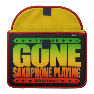 GONE SAXOPHONE PLAYING - Love Woodwind Instruments MacBook Pro Sleeve