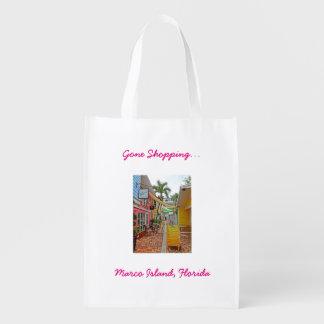 Gone Shopping - Marco Island, Florida Reusable Grocery Bag