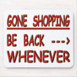 gone shopping mousepads